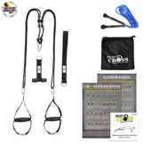 Schlingen-Trainer von BodyCROSS | inkl. Übungsposter, 10-Wochen Trainingsplan, Tasche, Türanker, Adaption, Springseil und TABATA Trainings Musik CD | Sling-Trainer für Functional Training | Professioneller Rope-Trainer Made in Germany - 1