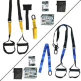 Orthocare S - Suspension Trainer Fitness-Trainer Gurte Functional / Fitness-Trainer. Multi-Kit Stärkung, Muskelkraft und Muskelaufbau . Anker mit Tür und praktischer Transporttasche . - 1
